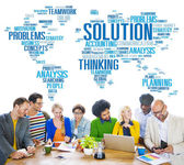 Global Solution Problem Decision Concept — Stock Photo