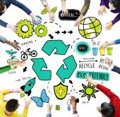 Recycle Reuse Reduce Bio Eco Friendly Environment — Stock Photo