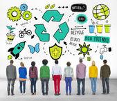 Recycle hergebruik verminderen Bio Eco vriendelijke omgeving — Stockfoto