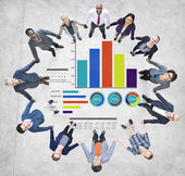Diversity Business People Strategy Teamwork Support Concept — Stock Photo