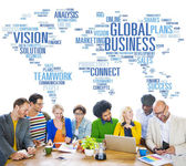 Global Business World Commercial Business People — Stock Photo