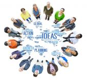 Global People Togetherness Team Creativity Ideas — Stock Photo