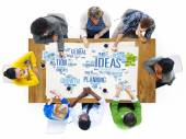 Global People Discussion Meeting Creativity Ideas — Stock Photo
