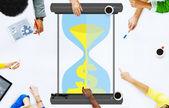 Time Sand Glass Hour Glass Finance Saving — Stock Photo