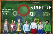 Startup New Business Plan Strategy Teamwork — Stock Photo