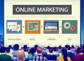 Online marketing Strategiekonzept — Stockfoto