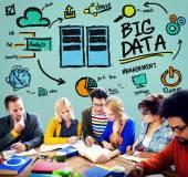 Conceito de armazenamento de grande volume de dados — Fotografia Stock
