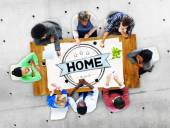 Home Family House Concept — Stock Photo