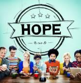 Concept de spiritualité de culte de l'espoir — Photo