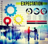 Verwachting voorspelling Concept — Stockfoto