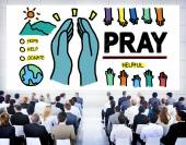 Pray Praying Hope  Concept — Stock Photo