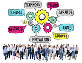 Teamwork Strategy Vision Concept — Stock Photo