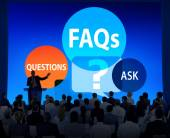 FAQs Solution Concept — Stock Photo