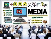 Media Devices Communication Concept — Stock Photo