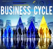 Business cycle concept — Stock Photo