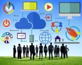 Global Communication Cloud Concept — Stock Photo