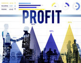 Profit Benefit Accounting Concept — Stock Photo