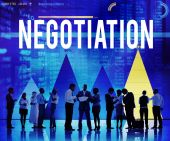 Negotiation Contract Decision Concept — Stock Photo
