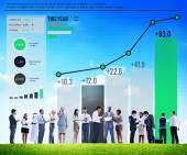 Statistics Data Analysis Concept — Stock Photo