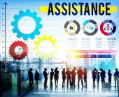 Assistance Team Corporate Concept — Stock Photo