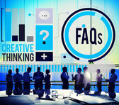 Frequently Asked Questions  Concept — Stock Photo