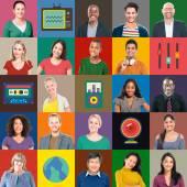 Koncepcja technologii wieloetnicznego ludzie — Zdjęcie stockowe