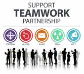 Support Teamwork Partnership Concept — Stock Photo