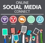 Online Social Media Connect — Stock Photo