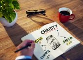 Charity Helping Concept — Stock Photo