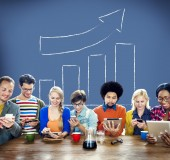 Graph Growth Moving Up Improvement Concept — Stock Photo
