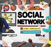 Sociaal netwerk concept — Stockfoto