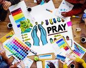 Modlete se pojem náboženství naděje — Stock fotografie