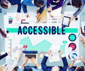 Accessible Usable Available Concept — Stock Photo