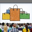 Shopping Bag Sale Capitalism Shopaholic Concept — Stock Photo #78119990