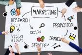 Promoción de gestión marketing Branding campaña concepto — Foto de Stock