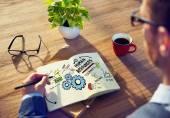 人材雇用仕事チームワーク オフィス作業コンセプト — ストック写真