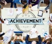 Achievement Accomplishment Success Goal Concept — Stock Photo