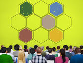 Bee Hive Honey Community Teamwork Concept — Stock Photo