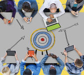 目标目标成功愿望目的灵感概念 — 图库照片