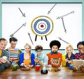 目標ターゲット成功吸引目的インスピレーション コンセプト — ストック写真