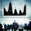 Business people and Diagram Parabola — Stock Photo #78194880