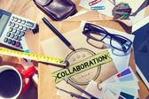 Koncepcja współpracy i pracy — Zdjęcie stockowe