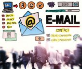 Email Concept and crowd — Stock Photo