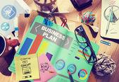 Business plan Bar Graph Concept — Stock Photo