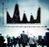 Business people and Diagram Parabola — Stock Photo