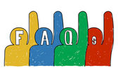 Frequently Asked Questions FAQ — Stock Photo
