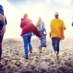Friendship Relaxation Summer Beach Concept — Stock Photo #81716250