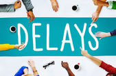 Delays text on screen Concept — Stock Photo