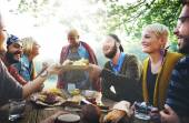 People Luncheon Outdoors Concept — Stock Photo