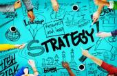 Strategie creatieve schets Concept — Stockfoto